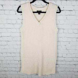 ADRIENNE VITTADINI   wool tunic sweater vest